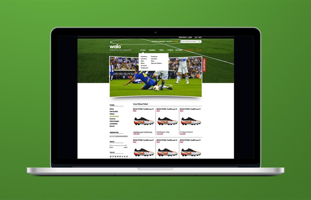 Diseño de la imagen gráfica para e-shop Wala