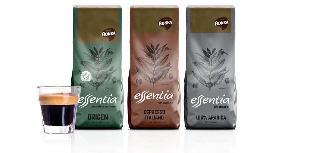 packs bonka esencia origen, espresso italiano y 100% arábica